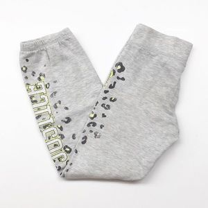 Justice girls gray '04 animal print sweatpants